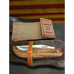 Couteau catalan Pallarès Le pedraforca en olivier
