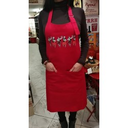 Apron black with sardane (catalan dance)