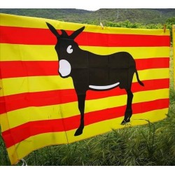 Catalan flag with the...