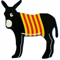 Sticker donkey with catalan...