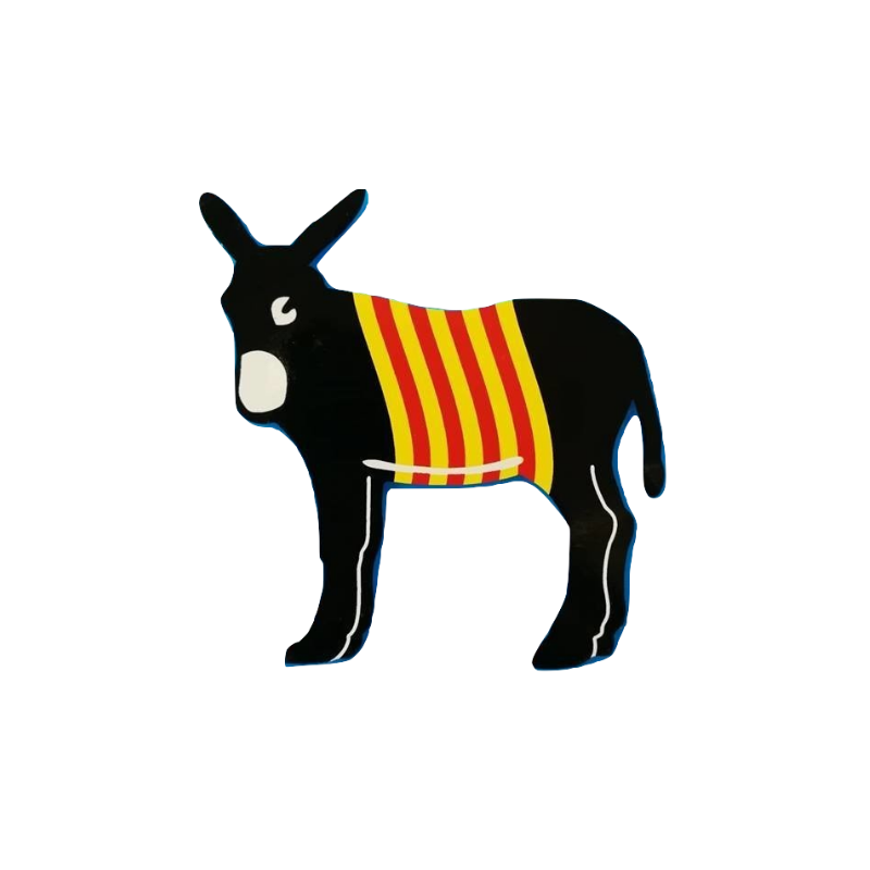 Autocollant de l'âne catalan