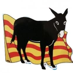 Adhesiu burro amb la bandera