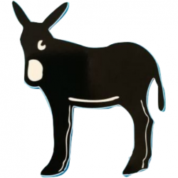 Sticker catalan donkey...