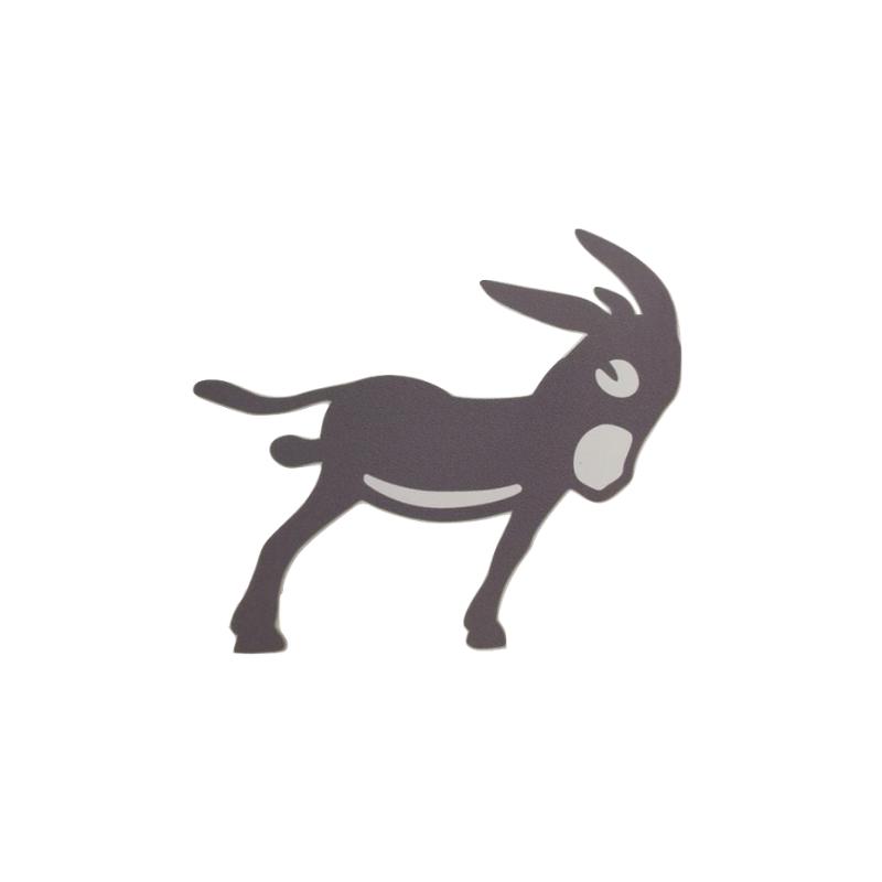 Ane burro couleur catalan autocollant plaque orange