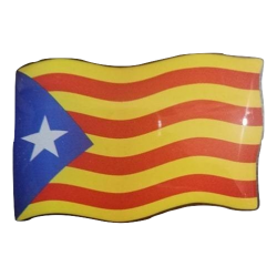 Sticker with flag flying
