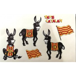 6 stickers del burro català