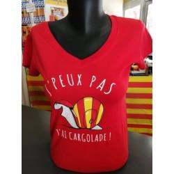"""Tee-shirt woman  """"J'peux pas j'ai cargolade"""""""