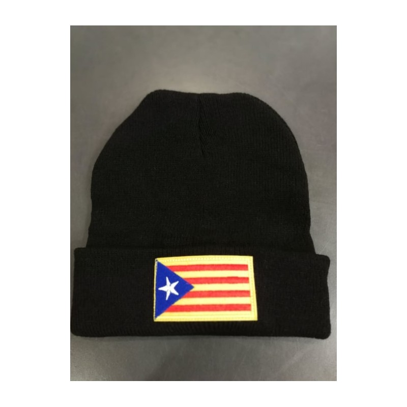cap with catalan flag of independence