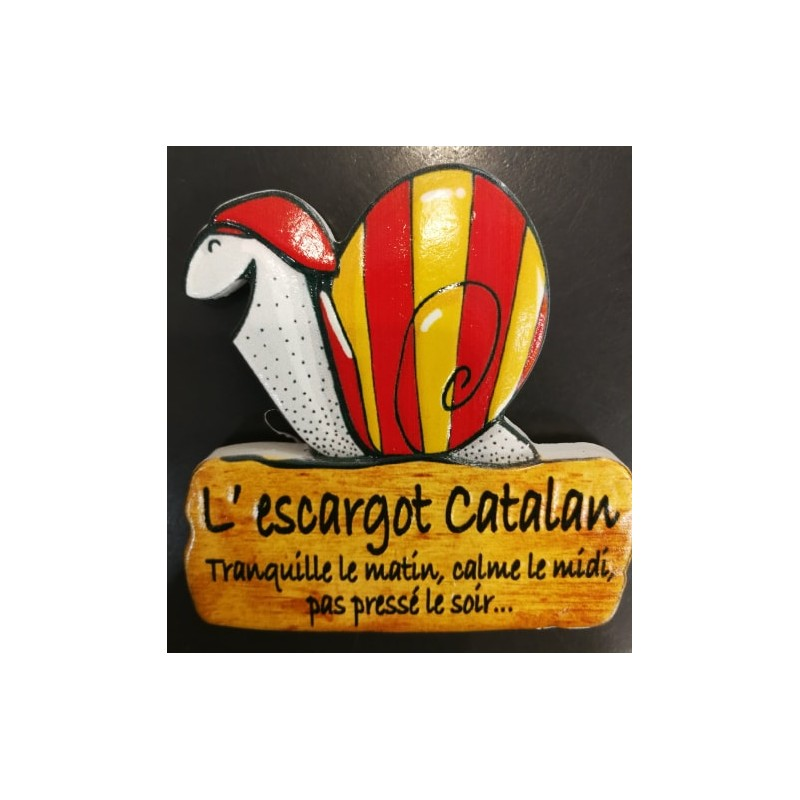 Magnet of the Catalan snail in resin