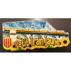 Magnet yellow train resin