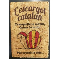 Magnet of the Catalan snail cork
