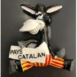 """Magnet âne catalan rigolo """"Pays Catalan"""""""