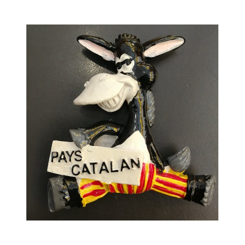 """Catalan Donkey Magnet """"Catalan Country"""""""