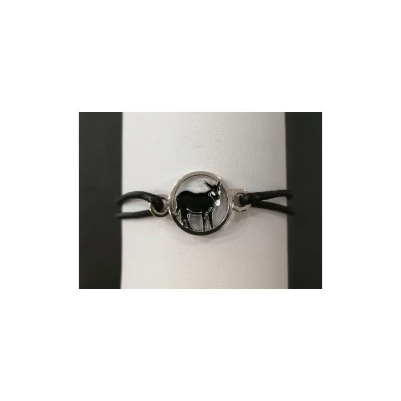 Bracelet âne catalan noir