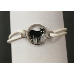 Bracelet with Catalan donkey white