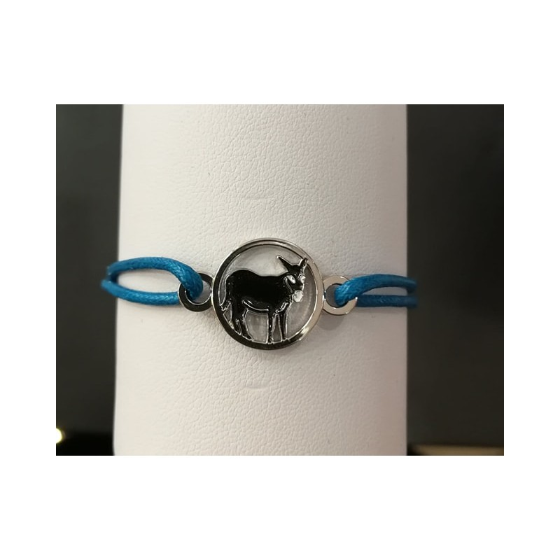 Bracelet âne catalan bleu