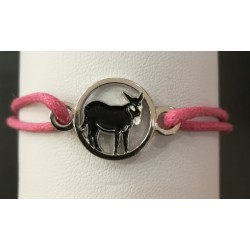Bracelet with Catalan donkey pink
