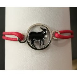 Bracelet with Catalan donkey red