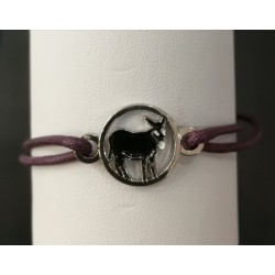Bracelet with Catalan donkey purple