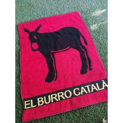 Dish towel or rectangular guest towel in sponge with Catalan donkey