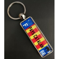 Catalan Country Keyring License Plate