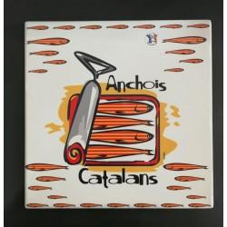 Dessous de plat carré anchois catalans