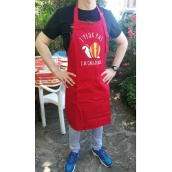 Apron red with catalan...