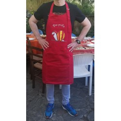 Apron red with catalan snail