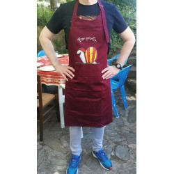 Apron burgundy  with...
