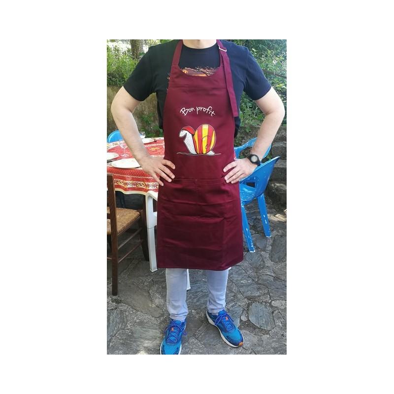 Tablier bordeau  Bon profit avec l'escargot catalan