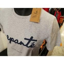 """Tee-shirt """"Espanté"""" gris chiné"""