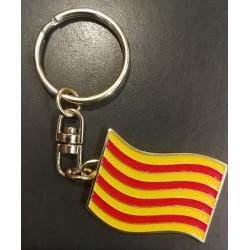 Porte-clés drapeau catalan