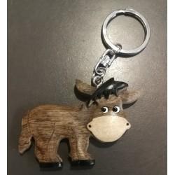 Porte-clés âne catalan en bois