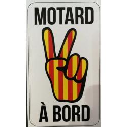 Autocollant Motard à bord