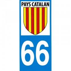 Adhesiu moto per la matricula amb l'escut Pays Catalan