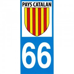 Autocollant moto immatriculation blason Pays catalan