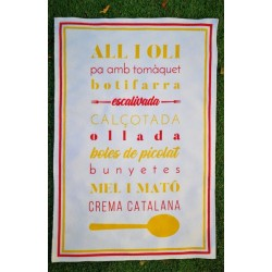 Teatowel catalan recipes