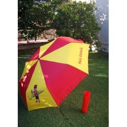 Umbrella yellow and red Pais català