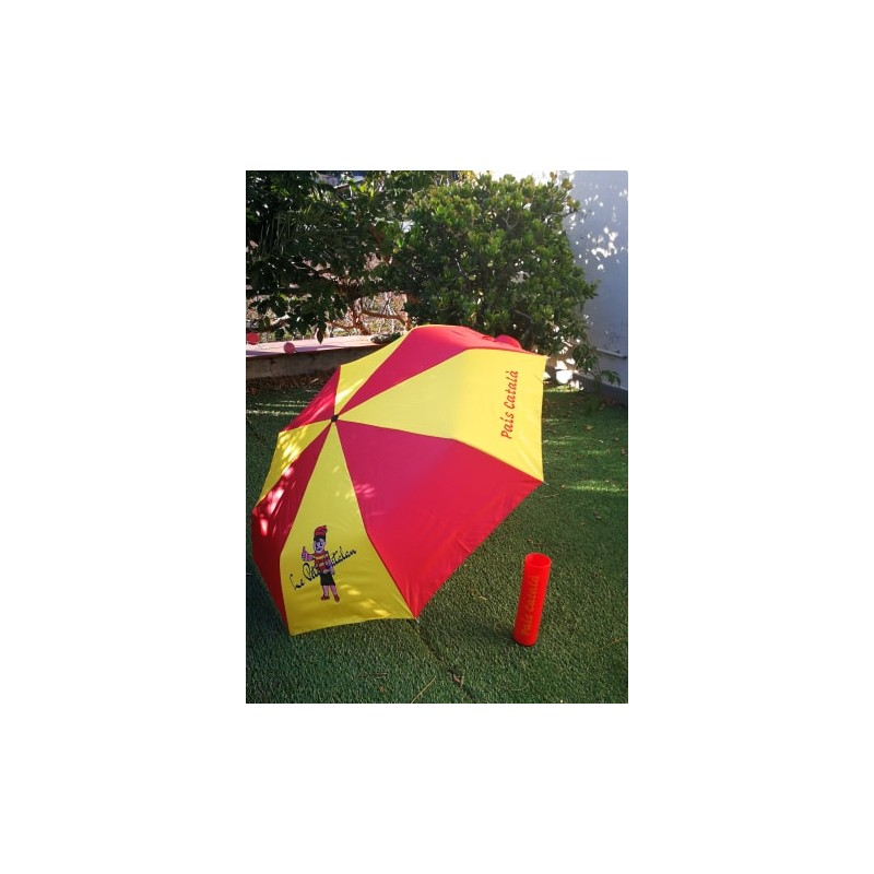 Umbrella yellow and red Pais català