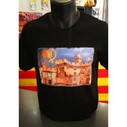Tee-shirt black Castillet Perpignan
