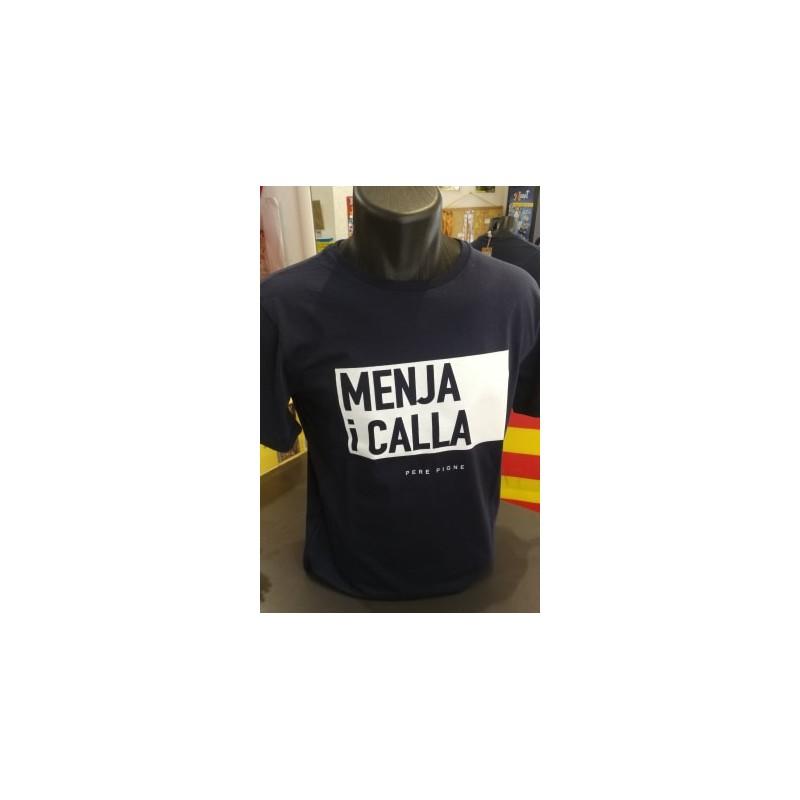 Tee-shirt Père Pigne Menja i calla navy