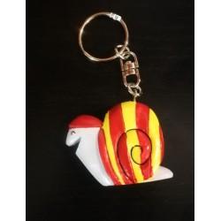 Porte-clés de l'escargot catalan en pvc