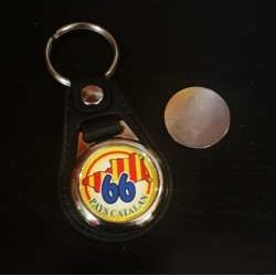 Keychain with cart token