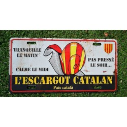 Plaque en alu escargot catalan