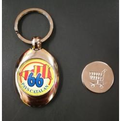 Porte-clés métal 66 jeton...