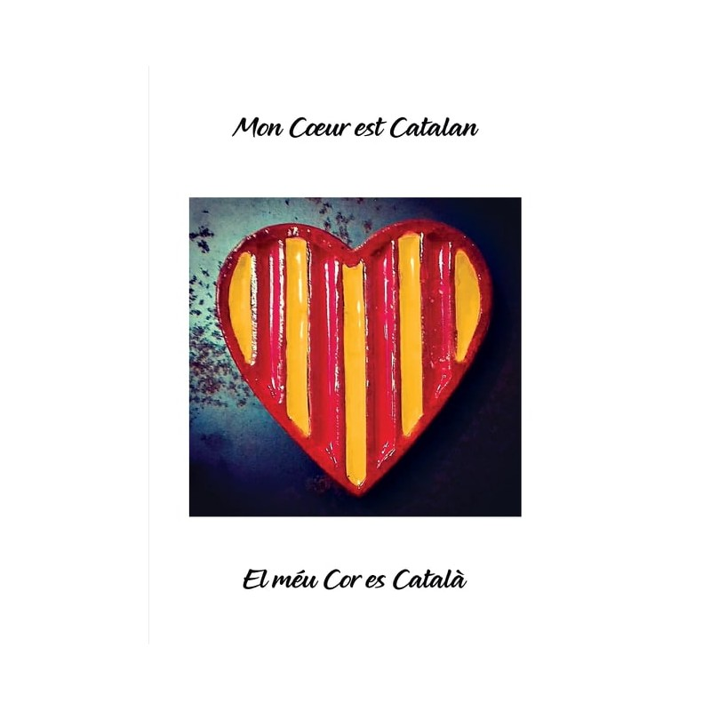 """Affiche """"mon coeur est catalan"""""""