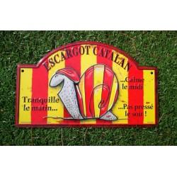 Placa de carrer de alumini decoració cargol català