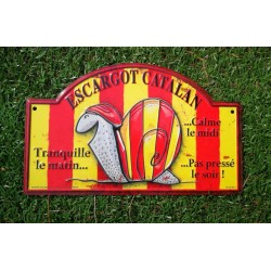 Plaque de rue en alu escargot catalan