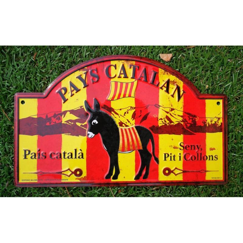 Decoration aluminum plate of street catalan donkey