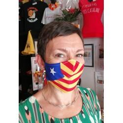 Masque Barrière drapeau catalan indépendantiste